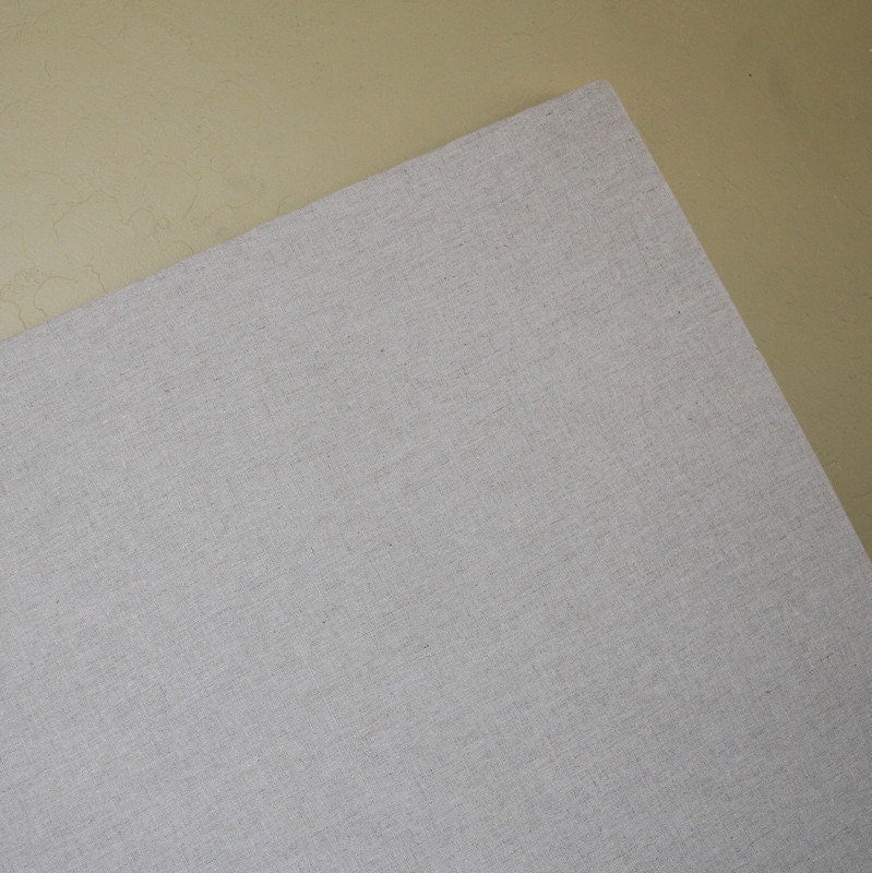 Fabric bulletin board 20 x 20 natural linen for Linen cork board