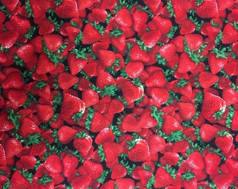 Strawberry Fabric -1 yard