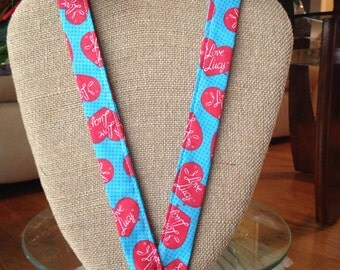 I love Lucy lanyard ID Holder Badge Holder