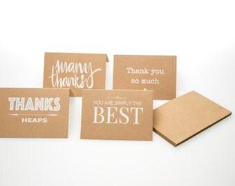 Kraft Thank-you Cards with envelopes *pk