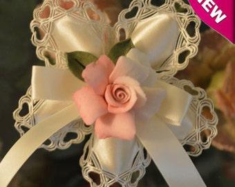 Confetti Flower with Capodimonte Flower, Almond Favors, Wedding Favors Bomboniere