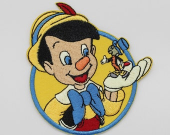 8 x 8.5 cm, Pinocchio Iron on Patch (P-307)