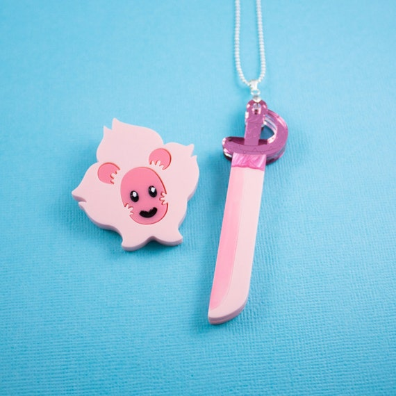 Steven Universe - Rose's Sword and Lion Jewellery Set