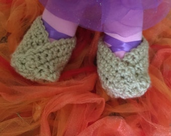 Fortune Cookie Baby Booties