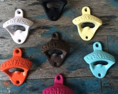 Cast Iron Bottle Openers, Open Here Bottle Opener, Colored Bottle Openers