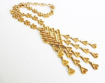 Vintage Gold Plated D'Orlan Statement Necklace