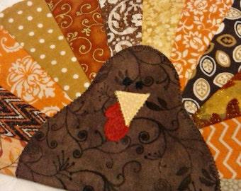 Turkey Mug Rug - Thanksgiving Mug Rug - Coaster - Mug Rug - Thanksgiving - Turkey