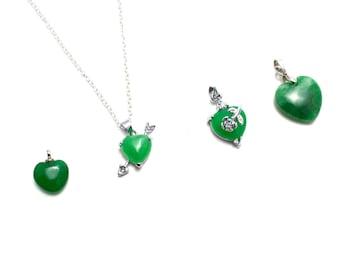 Jade pendant etsy jade heart pendant valentines pendant love pendant silver jade pendant jade heart mozeypictures Choice Image
