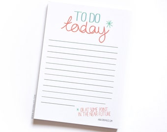Notepad, To do list funny to do list notepads jotter organiser funny gift stationary to do at some point presents christmas stocking stuffer