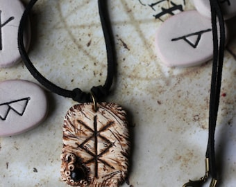Runic talisman of protection (Elhaz and Sowilo)