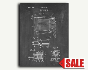 Patent Art - Shower Curtain Rod Patent Wall Art Print