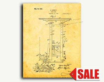 Patent Print - Porch Swing Patent Wall Art Poster