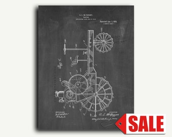 Patent Print - Tractor Patent Wall Art Poster