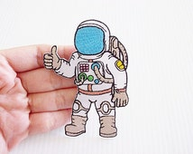 Astronaut New Sew / Iron On Patch Embroidered Applique Size 6.2cm.x8.7cm.