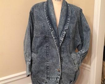Stonewashed denim jacket, 80's jacket