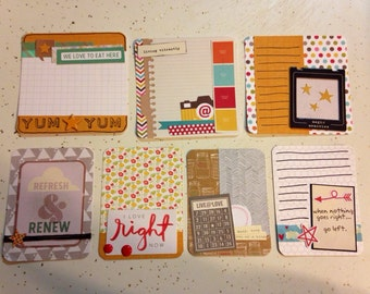Handmade project life card set