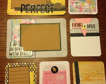 Handmade project life cards: pretty pastel