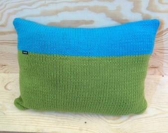 Hand knitted Merino Wool cushion