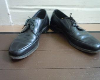 Size 8 D ** Fabulous 1950s Black Nunn Bush Dress Shoes