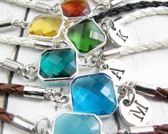 August Birthstone Bracelet-Birthstone Bracelets-Birthstone Jewelry-Birthday Gift for Her-Personalized Birthstone Bracelet-Birthday Gift