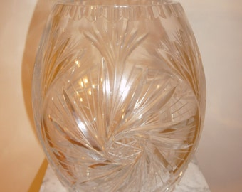 Antique lead crystal Pinwheel vase - circa 1920