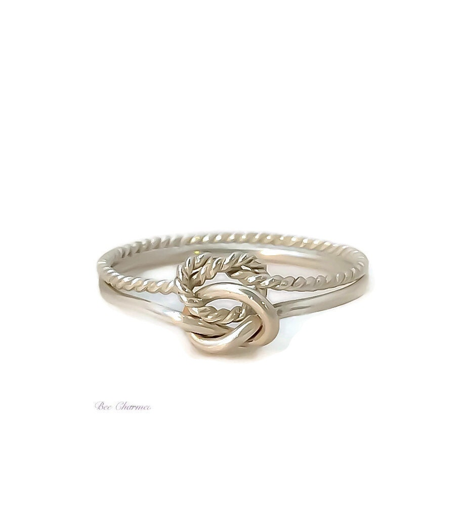knot ring sterling silver promise ring bridesmaid