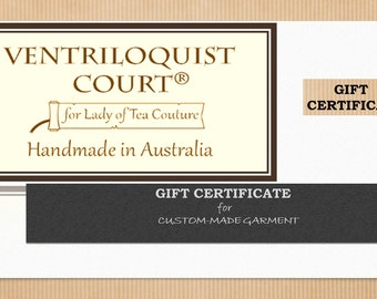 Christmas Birthday Wedding Special Occasion Gift Certificate for Steampunk, Gothic, & Victorian Clothing