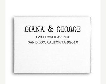 VALENTINE SALE Custom Address Stamp, Calligraphy Stamp, Invitation Address Stamp, Wood Handle or Self Inking
