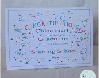 Starting Nursery /School Certificate  -Edited for you