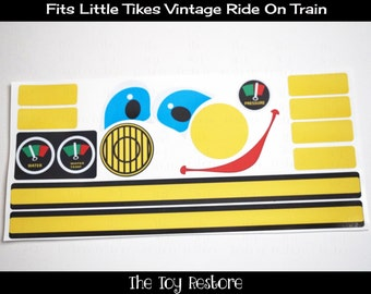 New Replacement Decals Stickers for Little Tikes Tykes Cozy Vintage Ride On Train