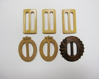 Wood Belt Buckle Collection