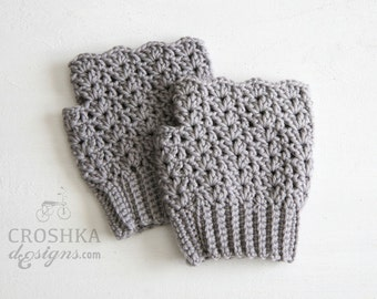 Merino wool crochet hand warmers, hand gloves, victorian shell crochet, merino wool wristers, warm gloves, winter gloves, made to order