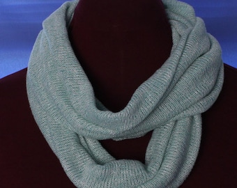 Infinity Scarf, Knit, Light Green