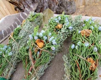 Artemisia tridentata~Desert Sage And Juniper Smudge Stick~Ceremonial Air Purification Smudge~Native American Smudge Stick~Ritual /Cleansing~