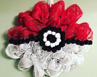 12in PokeBall Wreath