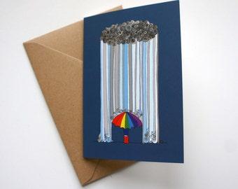 Dancing in the Rain - Greeting Card