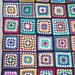 """OOAK Granny Square Afghan 52"""" x 70"""" 45 colors of Caron Simply Soft Yarn / no 2 squares the same, Full Queen Bed Cover, CozyWarmCreation"""