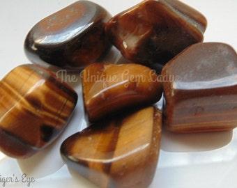 Tiger's Eye Tumblestone Tumble Stone Natural Polished ~ Gemstone Crystal Healing