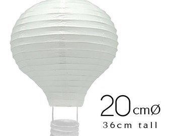 6 White Hot Air Balloon Paper Lanterns (8inch / 20cm)- Wedding, Birthday, Party, Baby Shower, Nursery,  Home  Decoration, Handicraft DIY