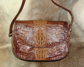 Vintage genuine Kaiyo collectible crocodile leather purse