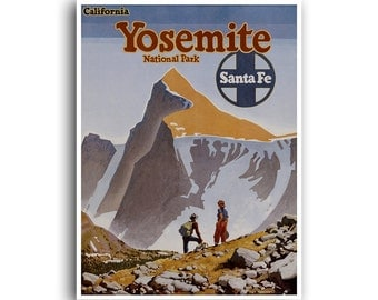 Travel Poster Yosemite National Park Art Print Vintage Home Decor (TR138)