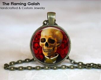 GENTLEMAN SKULL Pendant •  Anatomy •  Skeleton •  Anatomical Gothic • Gift Under 20 • Made in Australia (P1157)