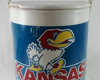 Vintage ku jayhawk cooler kansas university