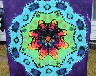 1.5x1.5m Mandala Reverse Tie Dye Tapestry