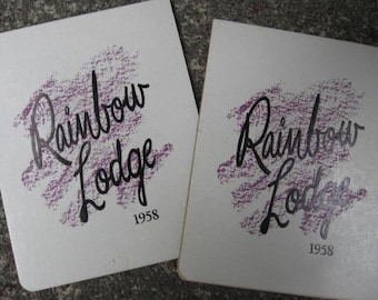 1958 Rainbow Lodge Whistler BC British Columbia Alta Lake Railway Resort Canada Canadian Souvenir Pacific Great Eastern Pacific Northwest