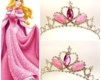 Princess Aurora Sparkle Tiara Sleeping Beauty Crown Headband,Sleeping Beauty Tiara,Princess Aurora Crown,Sparkle Pink Tiara,Aurora Headband