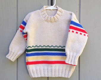 Childs sweater - 2 to 3 years - Kids knit jumper - Kids knitted sweater - Childrens knitwear
