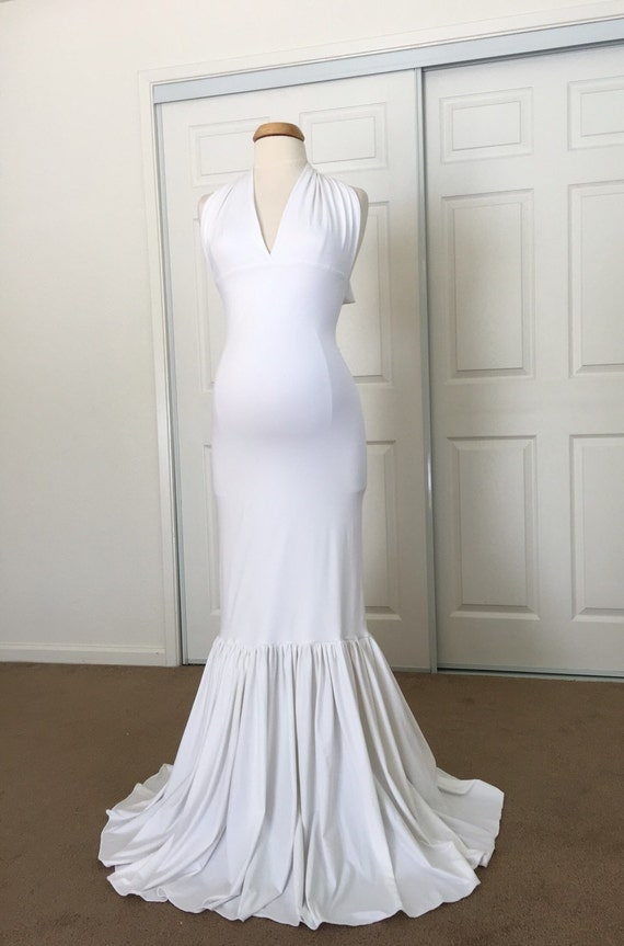 Lisa Gown, Turquoise Jersey Slim Fit Maternity Gown