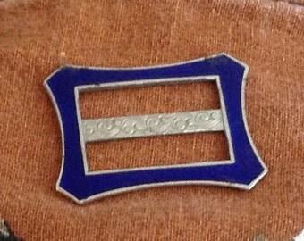 Vintage Cobalt Blue Art Drci Belt Buckle