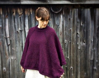 Woman's wool poncho